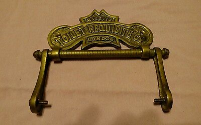 Antique/vintage--Toilet Paper Holder--Brass--Toilet Requisite Co.--London