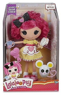 Lalaloopsy Crumbs Sugar Cookie Large Doll With Brushable Hair **mib**