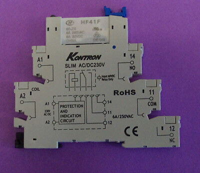 one pieces of 230 V DC/AC Ultra Slim Relay DIN Rail Mount