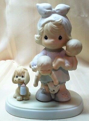 Precious Moments Joy of the Lord is My Strength Mom Babies 100137 MINT No Box 85