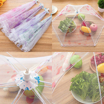 Pop-Up Lace Food Cover Tents Mesh Umbrella Picnic BBQ Party Folding Tent Kitchen