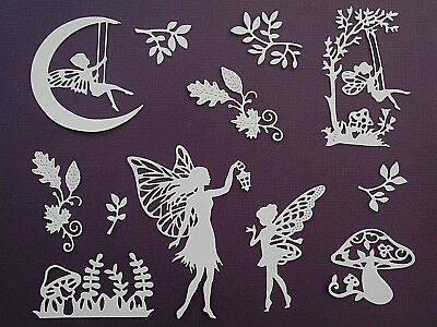Fairy Set Paper Die Cuts Girls Birthday Scrapbooking Card Topper Embellishments