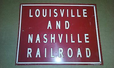 Vintage The Louisville and Nashville Railroad Collectible Railroad Metal Signs