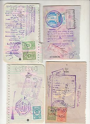 Syria Liban 8 Revenue Stamps On Document.