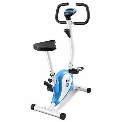 Exercise Bike Stationary Cycling Fitness Cardio Aerobic Equipment Gym Blue