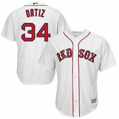 Boston Red Sox Mlb David Ortiz #34 Majestic Youth Official Sewn Jersey X-L 18/20