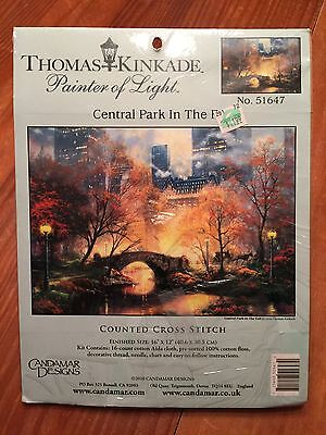 NEW Thomas Kinkade New York Central Park in the Fall Cross Stitch Kit