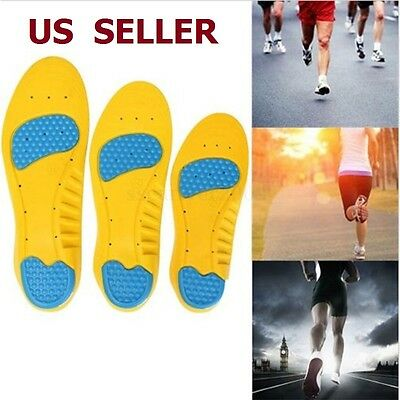 Memory Foam Orthotics Arch Pain Relief Damping Breathable Support Shoes Insoles