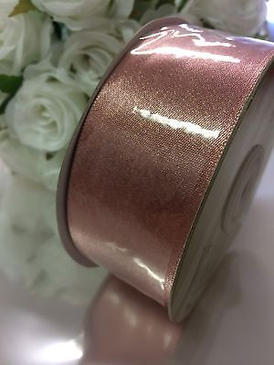 ROSE GOLD Ribbon 38MM Wide X 7 Mtr  Wide. FLAT PACKED FREE POST