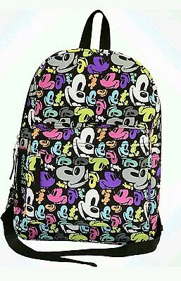 NEW Disney Parks Mickey Mouse Faces Pop Art Backpack Bookbag