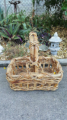 Thick Cane Open Picnic/Drink Basket