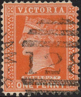 VICTORIA 1d Brown with p/m BN 128 of 'CHELTENHAM' rated 'S'
