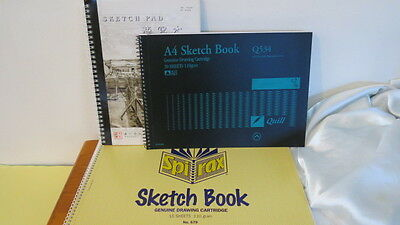 3 x large Drawing Sketch Paper Pads 91 Pages in total