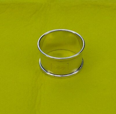 Vintage Hallmarked Solid Silver Napkin Ring Engraved with Roy from 1965 - VGC