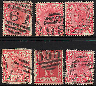 Victoria 6 state stamps Collection Barred numerals Lot A4