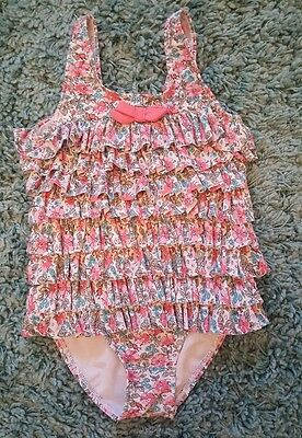 Nexts girls floral frilly swimming costume age 4-5 years