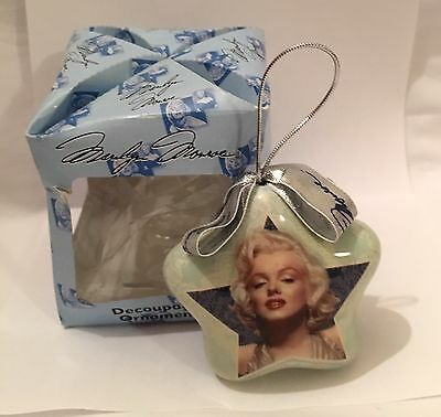 Marilyn Monroe Christmas Star Shape Ornament