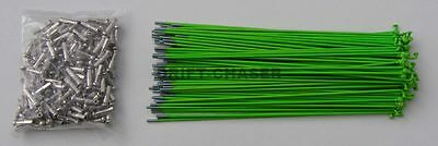 36 Piece Fluro Green Bicycle Spokes for 20 inch Bmx Bike Wheels, 14g x 184mm