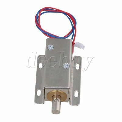 File Door Cabinet Latch Assembly Solenoid Electric Round Bolt Lock DC12V BQLZR