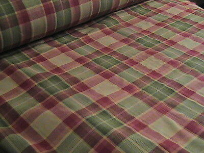 """NEW COUNTRY PLAID FABRIC 5 YARDS UNCUT x 55"""" Straight From The Roll!!"""