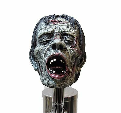 Realistic Zombie Head Beer Tap Handle Sports Bar Kegerator Resin Walking Dead
