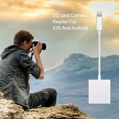 SD Reader Lightning to SD Card Camera Reader Adapter for iPad Air iPhone 7 6s