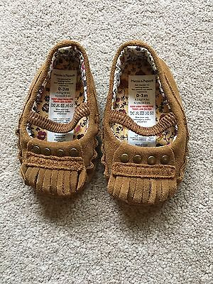 Mamas and papas baby shoes 0-3 months