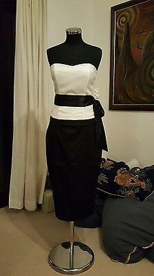 Ladies Bustier Top and Black Skirt sz 12 By Definitions