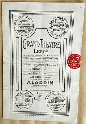 1935. STANLEY HOLLOWAY. at the Leeds Grand Theatre.  Programme.