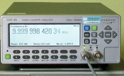 SPECTRACOM PENDULUM CNT-90 TIC Time Interval Counter Analyzer 100 ps 300 Mhz