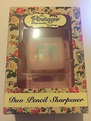 The Vintage Cosmetic Company Duo Pencil Sharpener Pink Polka Dot BNIB