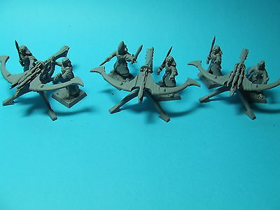 Warhammer - High Elf Elves - 3x Eagle Claw Repeater Bolt Throwers and Crews