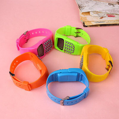 Children Date Silicone Electronic Multi-Purpose Calculator Wrist Watch Xmas Gift