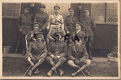 WW1 Officer Group ASC Army Service Corps Le Havre France inc Army Chaplain