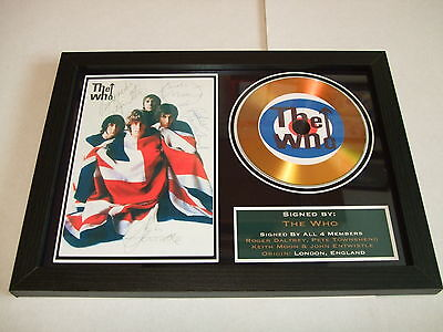The Who   Signed Framed Gold Cd  Disc   4433322