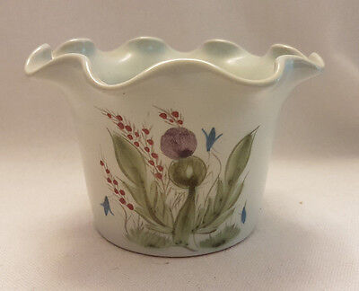 Buchan Scotland Ceramic Pottery Thistle Fluted Vase