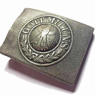 Original German Gott Mit Uns Weimar Republic Belt Buckle WWI WWII WW1 WW2 Nickel