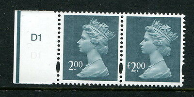 "GB GREAT BRITAIN 20003 £2 SGY1747a ""£"" POUND SIGN MISSING MNH"