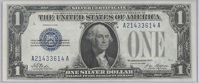 1928 $1 Dollar Silver Certificate - Funny Back - Uncirculated