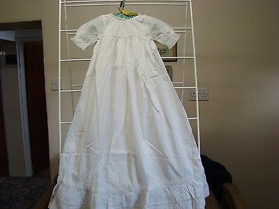 "Antique Baby Dress - White - 18"" Chest"