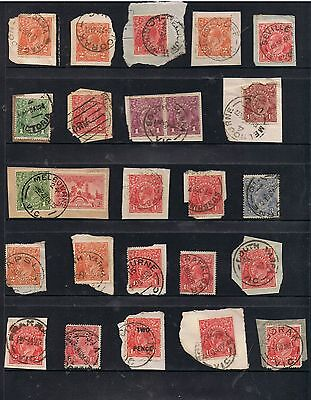 Selection Of Victoria Postmarks On Kgv Heads.