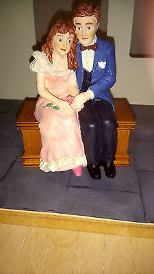 Dolls house figure Poly/Resin 1/12th Teen couple