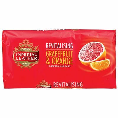 12 x Bars Of Imperial Leather Grapefruit & Orange Soap 12 x 100g