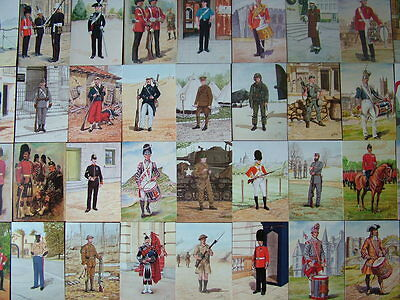 100 Unused POMPADOUR GALLERY, MILITARY Postcards.  Mint condition.