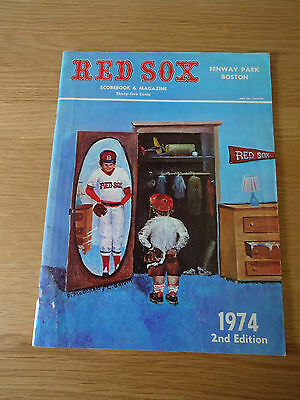 Boston Red Sox - Scorebook & Magazine 1974 - 2nd Edition