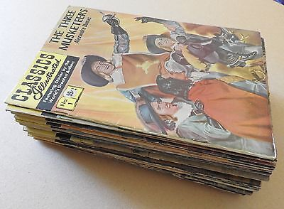 Classics Illustrated x 27 stiff covers VGC