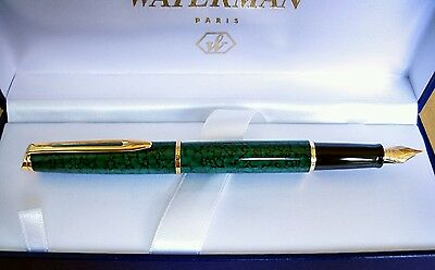 Waterman Green Marble Lacquer Fountain pen 1990's - Uninked