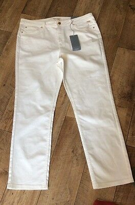 Per Una Slim Leg Soft White Jeans Size 18 Reg New With Tags RRP £35
