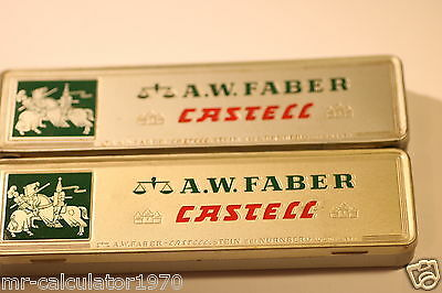 A.w Faber Castell Pencil Tin Box Job Lot Of Two  (9000 H)