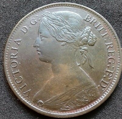 1861 Penny. S.3954. Dies 5 Plus D. About Extremely Fine With Lustre.